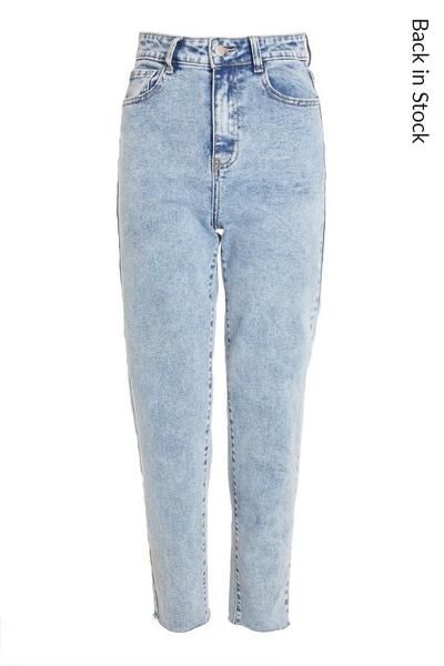 Blue Acid Wash Mom Jeans